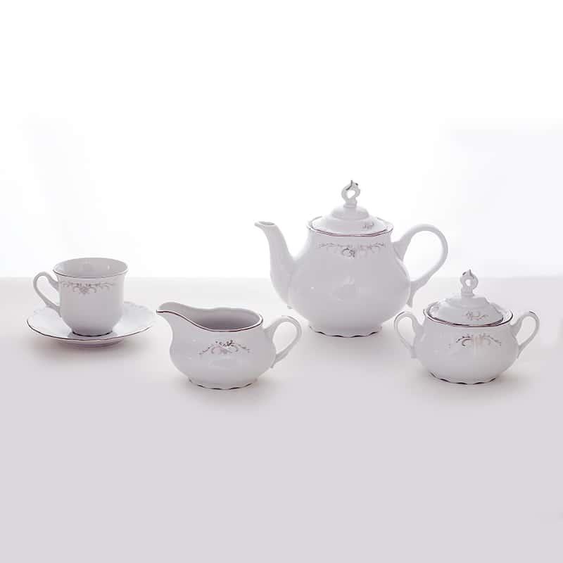 Констанция Серебряные колосья 351100 Сервиз чайный Thun 6 перс. 15 пред.