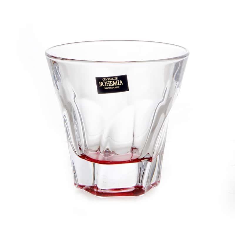 Аполло цветные Набор стаканов для виски Crystalite Bohemia 230 мл (6 шт)