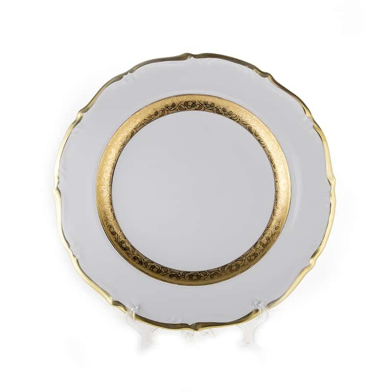 Лента золотая матовая 2 Блюдо круглое Bavarian 32 см
