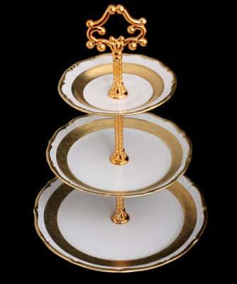 Лента золотая матовая 2 Горка 3 яруса Bavarian