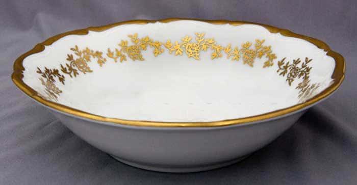 Барокко золото 202 Салатник круглый Bavarian 26 см.