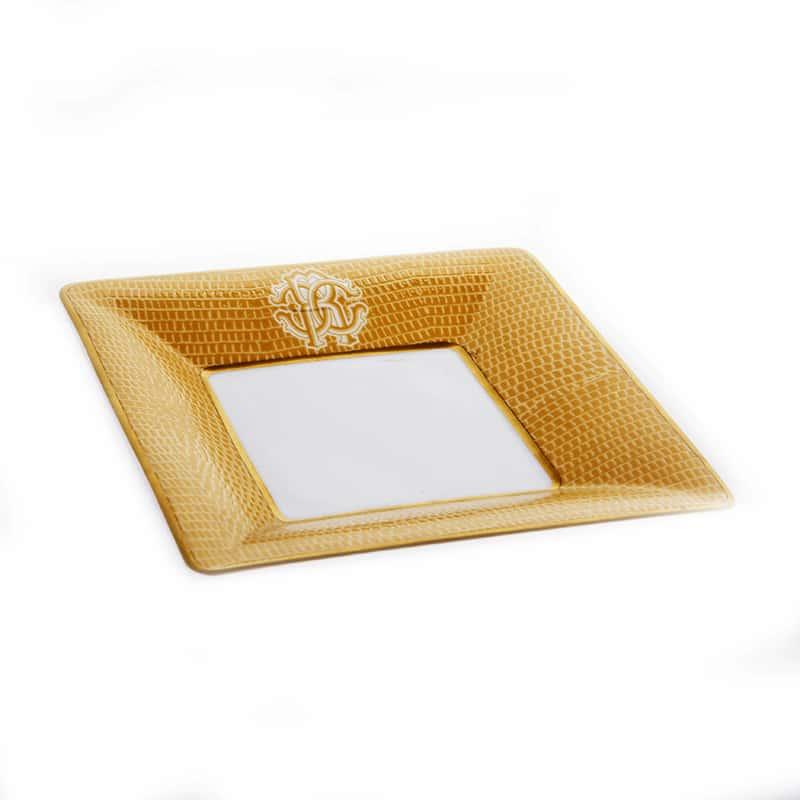 Лиззард Голд Набор десертных тарелок Roberto Cavalli 12х12 см