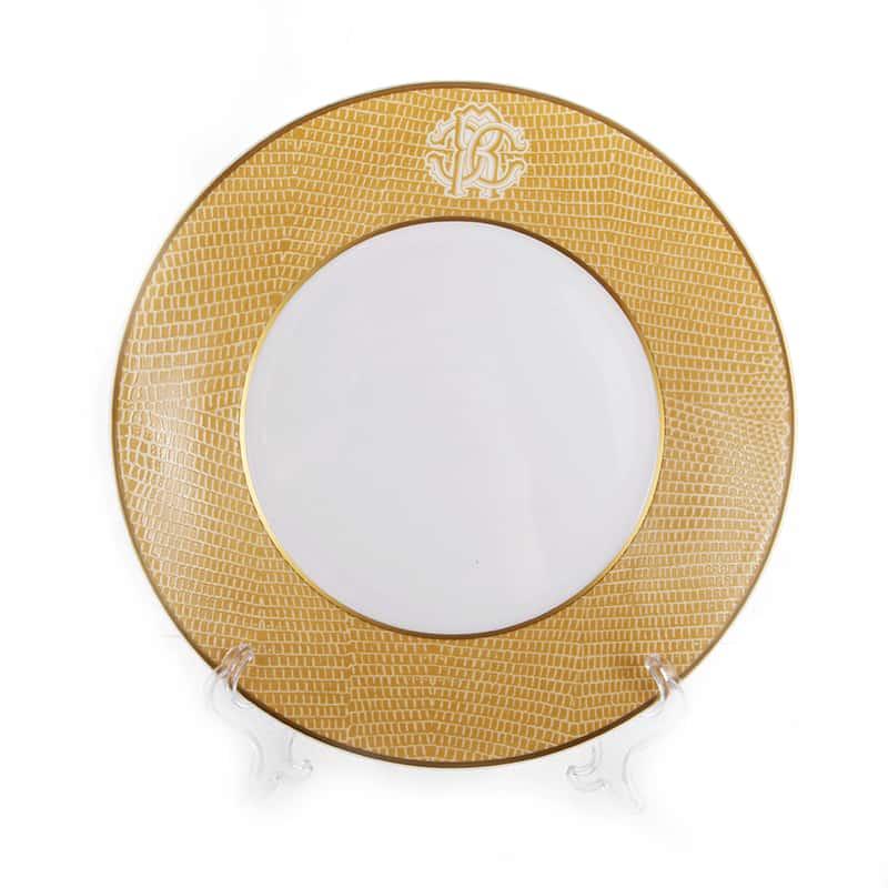 Лиззард Голд Набор глубоких тарелок Roberto Cavalli 22 см