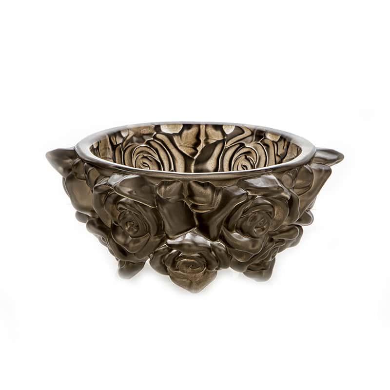 Фрост Розы Платина Ваза для конфет Crystalite 16,5 см