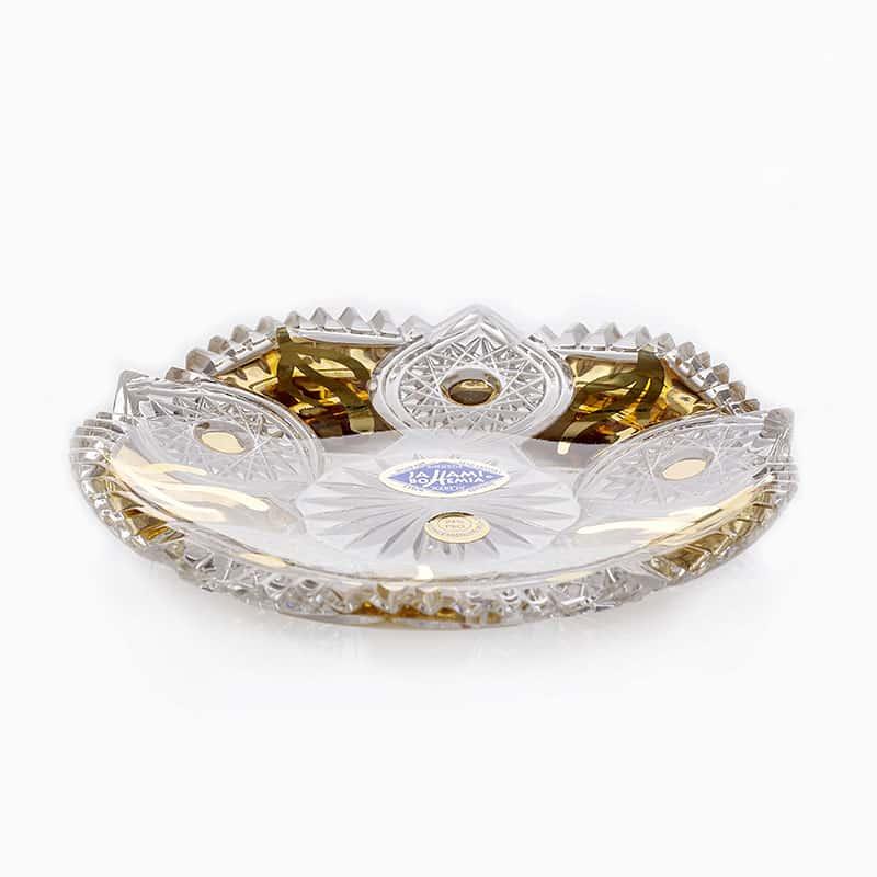 Хрусталь с золотом Набор блюдец Jahami 11,5 см