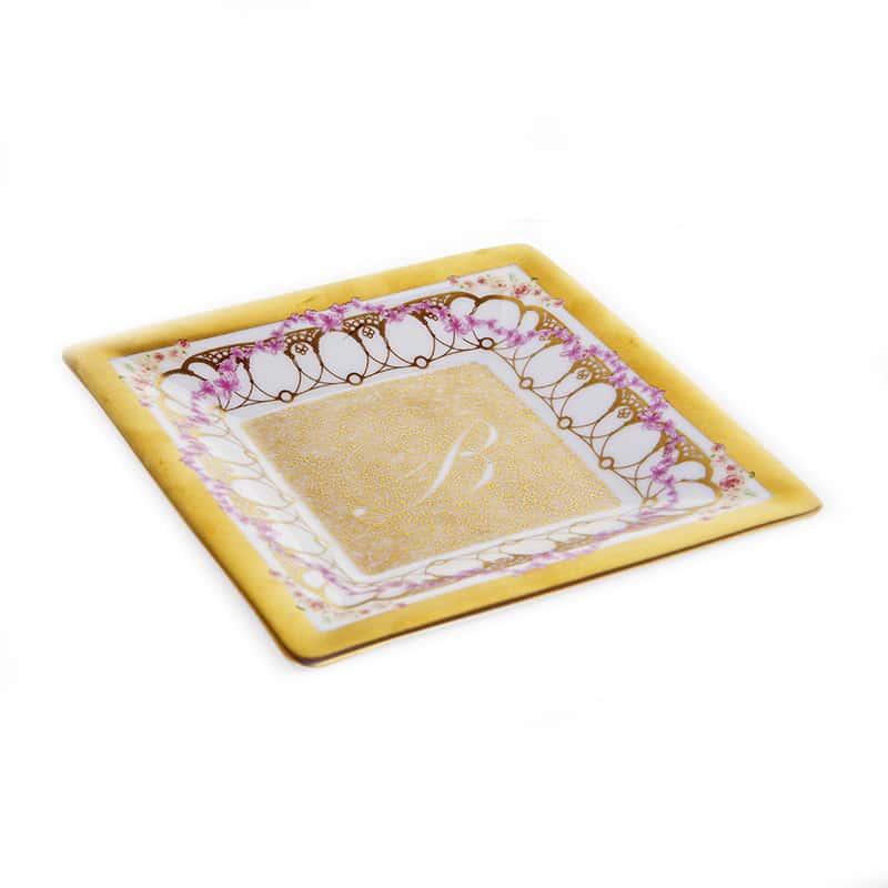 Бродерия Рубан Набор десертных тарелок Blumarine 12x12 см.