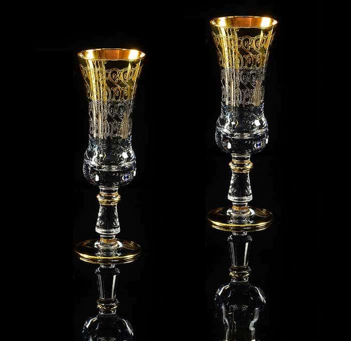 CREMONA Бокал для шампанского, набор 2 шт, хрусталь/декор золото 24К