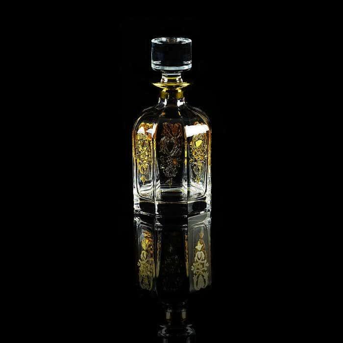 GLORIA Графин 0,85 л. H22 см, хрусталь/декор золото 24К