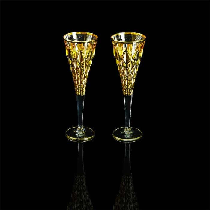 GOLDEN DREAM Бокал для шампанского, набор 2 шт, хрусталь/золото 24К