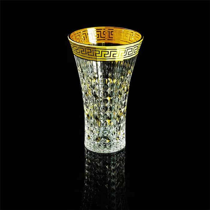 IMPERIA Ваза для цветов H27 см, хрусталь/декор золото 24К