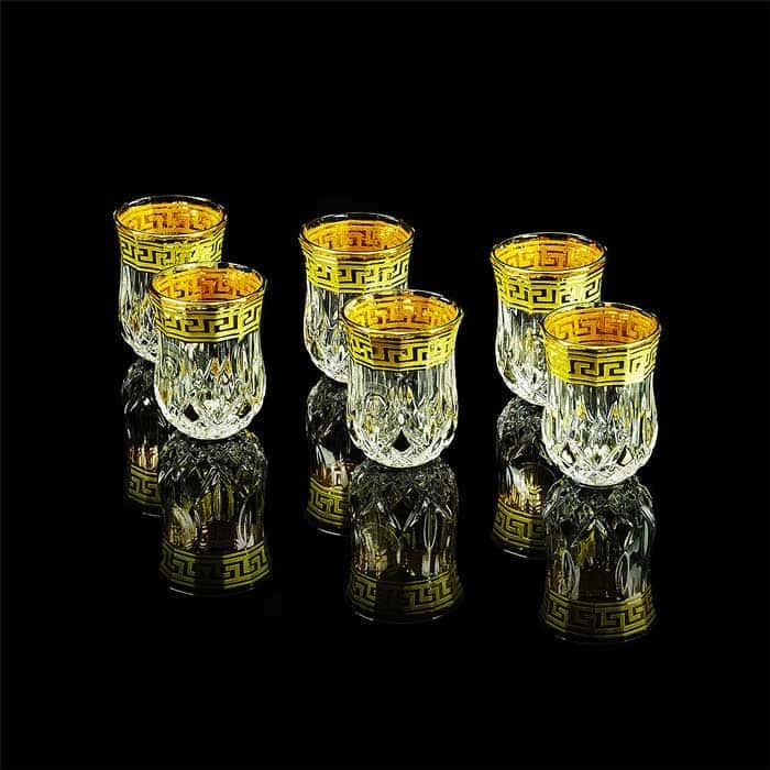 IMPERIA Стопка, набор 6 шт, хрусталь/декор золото 24К