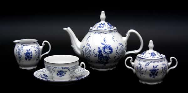Бернадот Синий 24074 Сервиз чайный 205 мл. на 6 перс. 15 пред