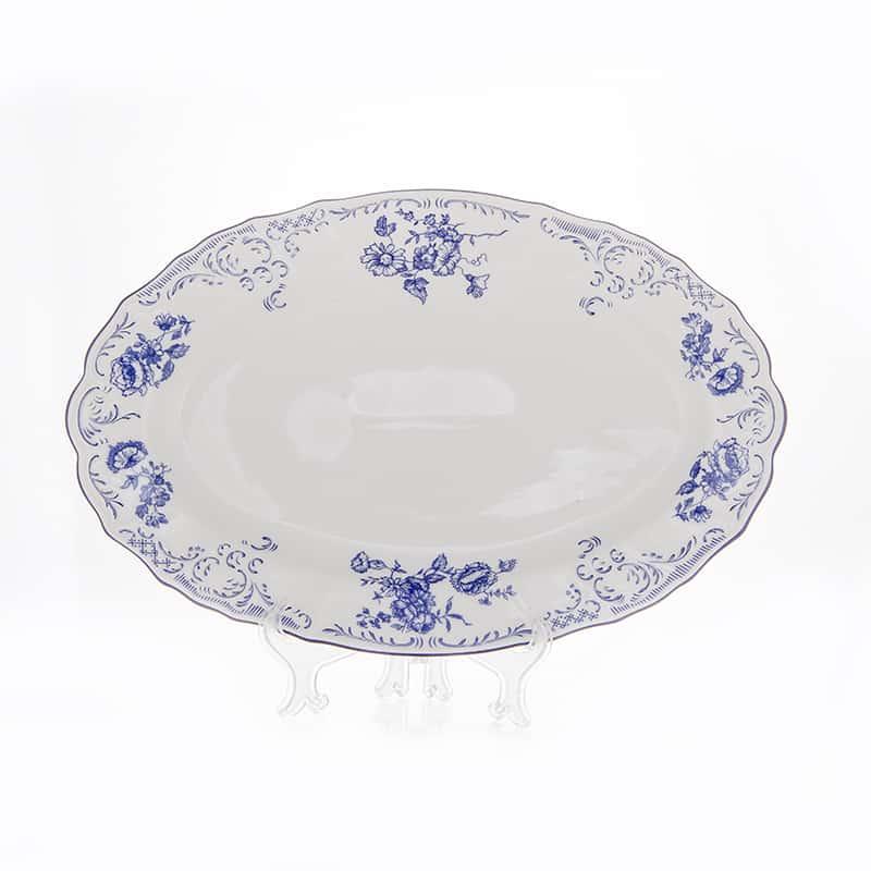 Бернадотт Синий 24074 Блюдо овальное 39 см