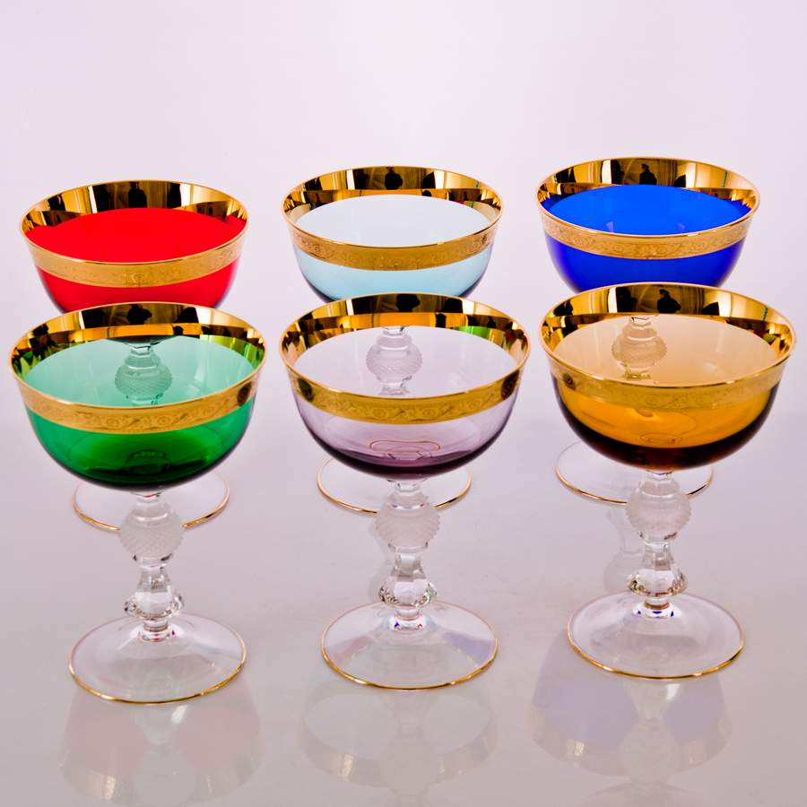 Джесси Колорс голубой Набор креманок для мартини Kvetna 300 мл (2 шт) 34119
