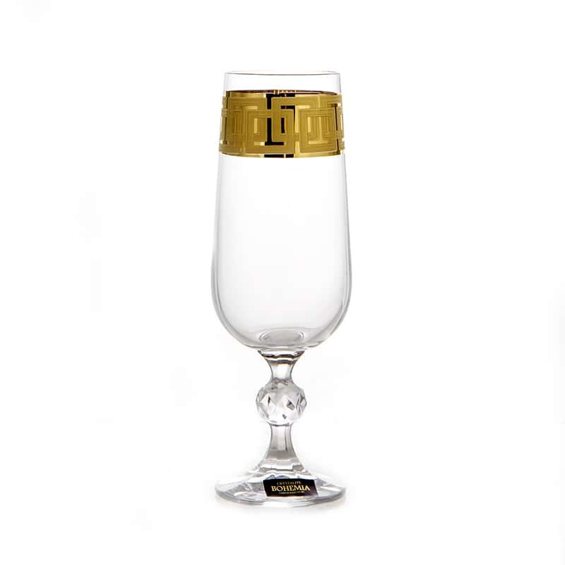 Клаудиа 375651 Набор бокалов для шампанского Crystalite Bohemia 180 мл
