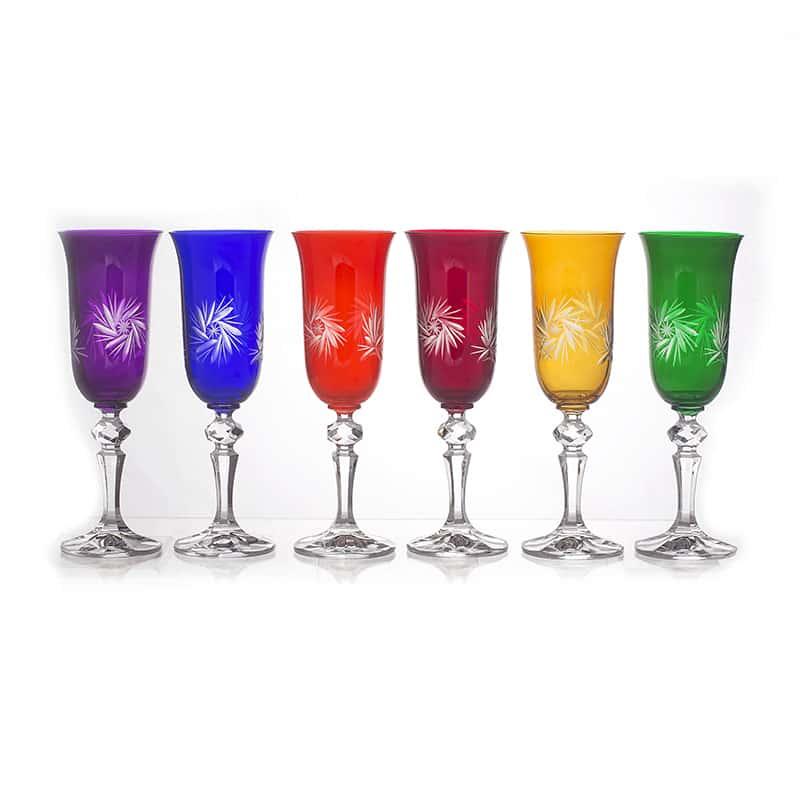 Хрусталь цветной Набор фужеров U. Glass 150 мл