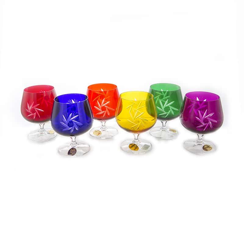 Хрусталь цветной Набор бокалов для бренди U. Glass 250 мл