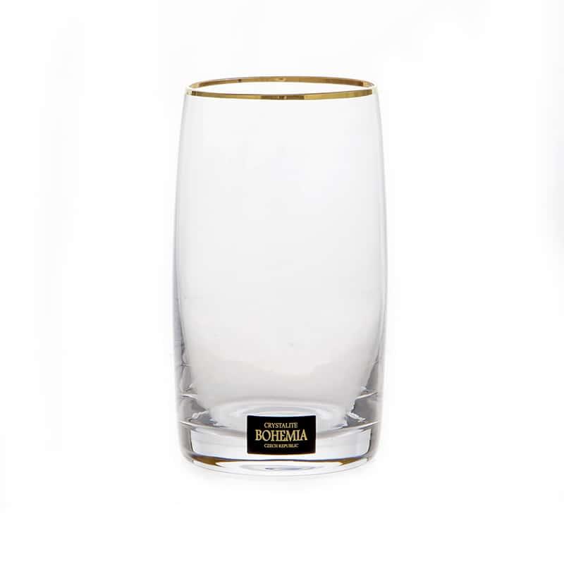 Идеал 203116 Набор стаканов для воды Crystalite Bohemia 250 мл. 6 шт.