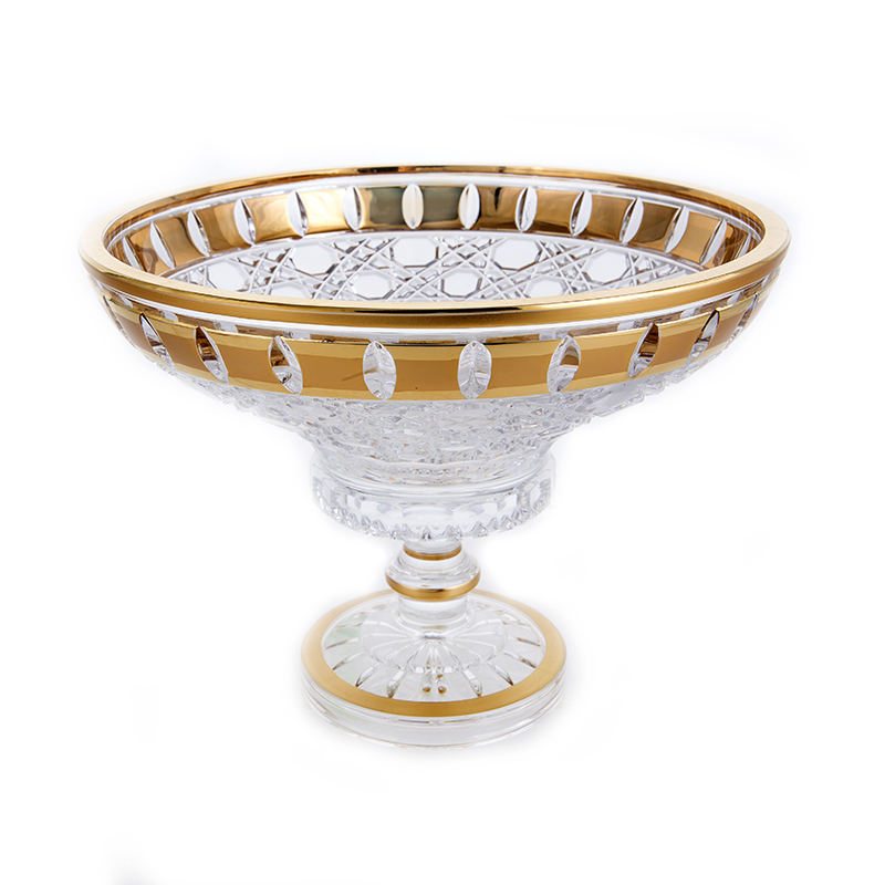 Золотые окошки 60550 Ваза для фруктов на ножке Mclassic 20,5 см