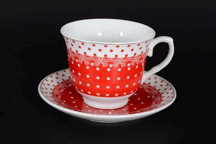 WELLBERG красный Чайный набор 12 предметов