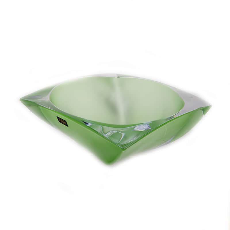 Ареззо зеленая Ваза для фруктов Crystalite Bohemia 32 см