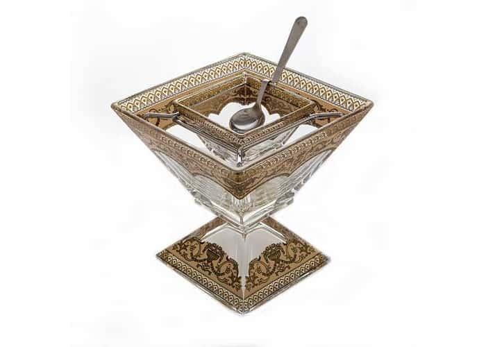 Империя Ваза для варенья Astra Gold на ножке 14 см