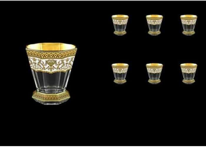 Версаче Глава Лаура белая Набор стаканов для виски 6 шт 310 мл Astra Gold