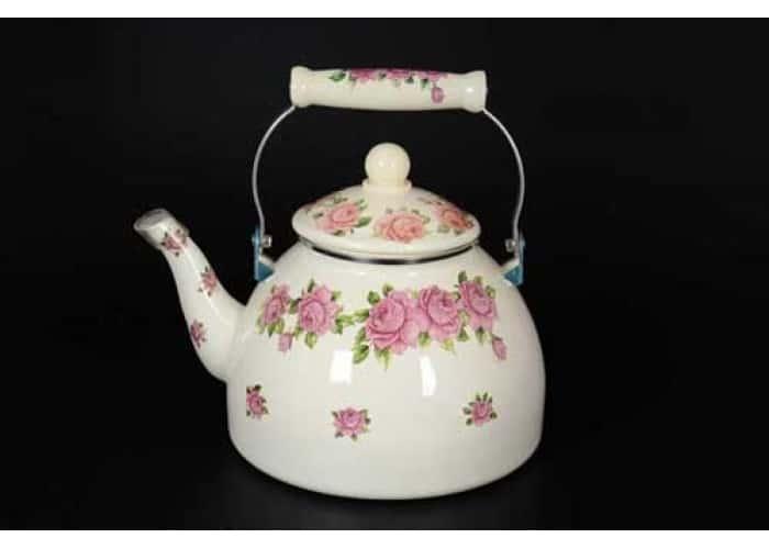 Чайник с цветочным узором из углеродистой стали