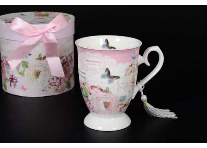 Бабочки Beautiful Pastoral Кружка в подарочной упаковке