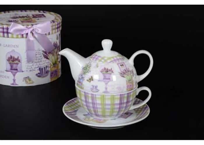 Petit Fleur Чашка с блюдцем и чайник в подарочной упаковке