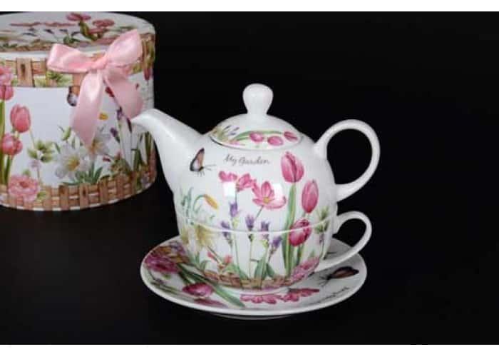 My Garden Чашка с блюдцем и чайник в подарочной упаковке