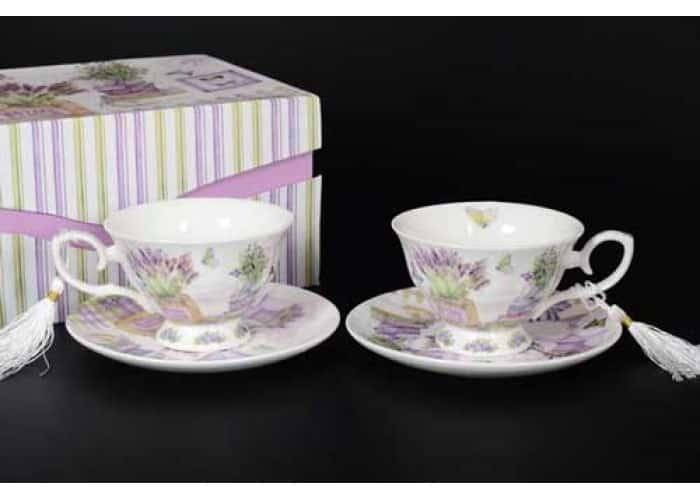 Petit Fleur Набор чайных пар (2 пары) в подарочной упаковке