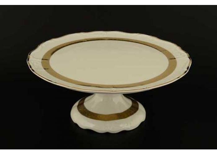 Мария Луиза IVORY 8800310 Тарелка для торта Thun на ножке 32 см