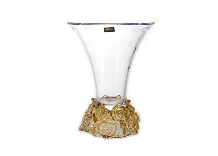 Фрост Розы-Амбре Ваза для цветов Crystalite 25,5 см