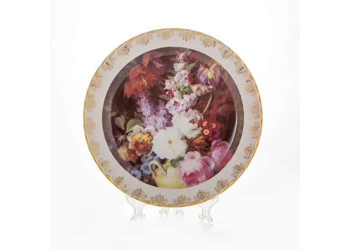 Цветы 6 Настенная тарелка Bavarian Porcelain 32 см