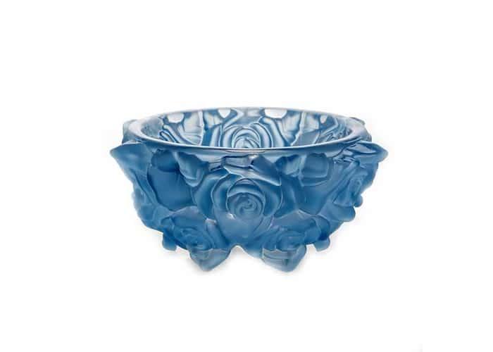 Фрост Розы Голубой Ваза для конфет Crystalite 16,5 см