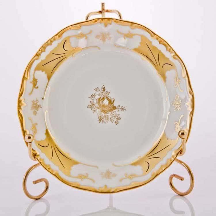 КЛЕНОВЫЙ ЛИСТ БЕЛЫЙ Набор десертных тарелок Weimar 15 см