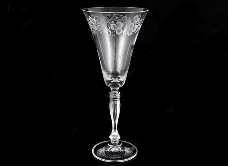 Виктория цветы Набор бокалов 190 мл Bohemia Crystal