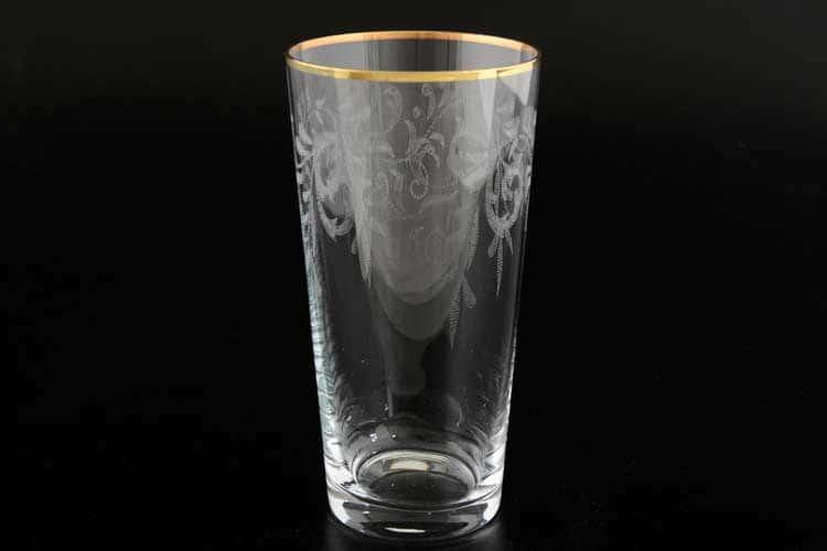 Виктория узор Набор стаканов для воды Bohemia Crystal 400 мл (6 шт)