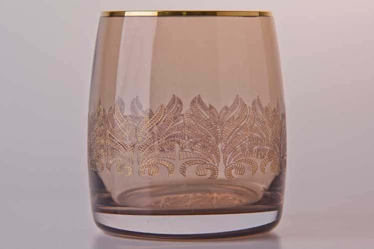 Виктория бежевый Набор стаканов для виски Bohemia Crystal 290 мл (6 шт)