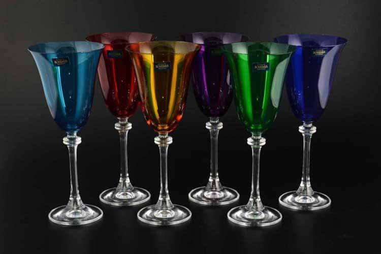 АЛЕКСАНДРА Колорс Набор бокалов для вина Crystalite Bohemia 185 мл