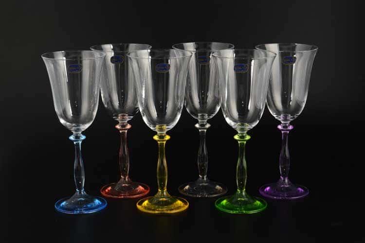 АЛЕКСАНДРА Колорс Набор бокалов для вина Bohemia Crystal 250 мл