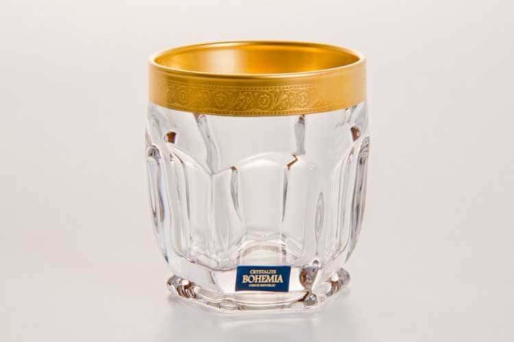 CАФАРИ Голд Набор стаканов для виски Crystalite Bohemia 250 мл