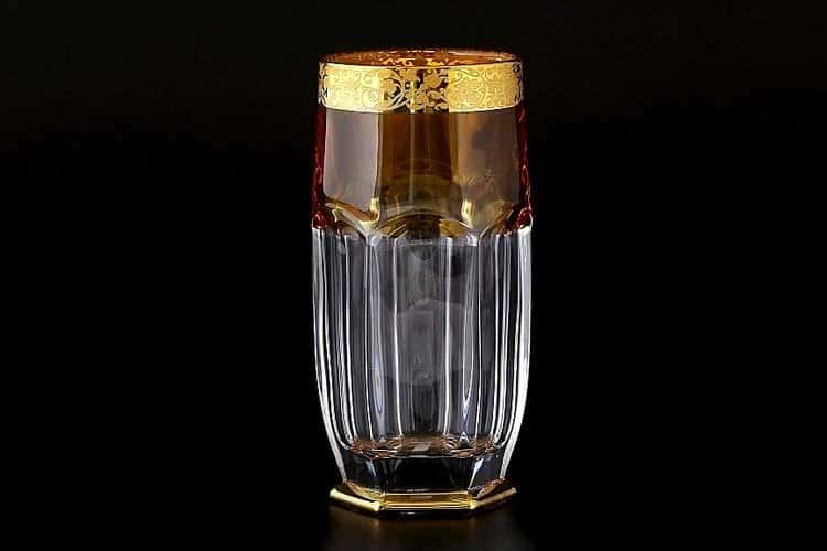 Сафари янтарь Набор стаканов для воды Bohemia 300 мл (6 шт)