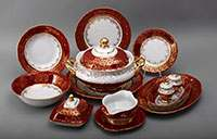 Лист красный Сервиз столовый Bavarian на 6 персон 27 предметов