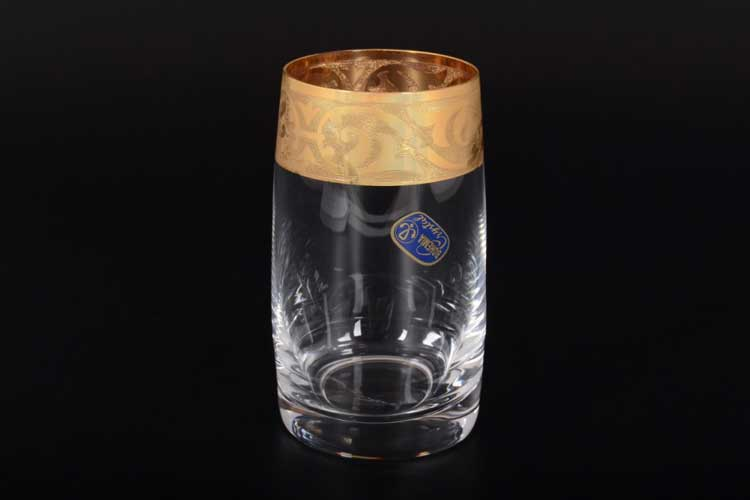 КЛАУДИЯ МАХАРАДЖИ Набор стаканов для воды Bohemia Crystal 250 мл