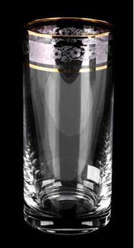 Клаудия Платина Набор стаканов для воды Crystalite 350 мл