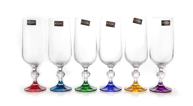 Клаудиа Колорс Набор бокалов для шампанского Crystalite Bohemia 180 мл