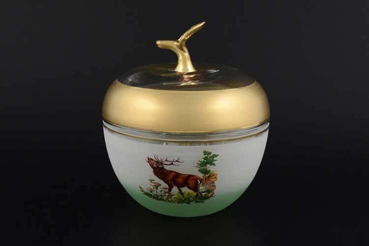 Охота Яблоко Ваза для конфет с крышкой 18,5 см
