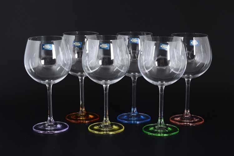 GASTRO Арлекино Набор бокалов для вина 570 мл Crystalite Bohemia (6 шт)